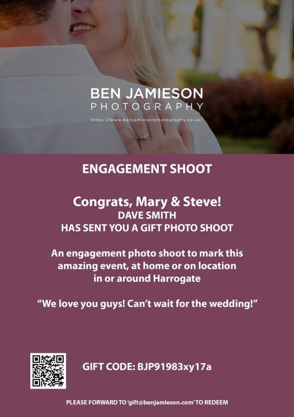Photography Gift Cards for Engagement sessions