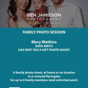 Family Photography gift card