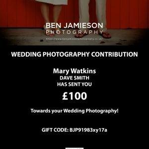 Wedding Photography gift card