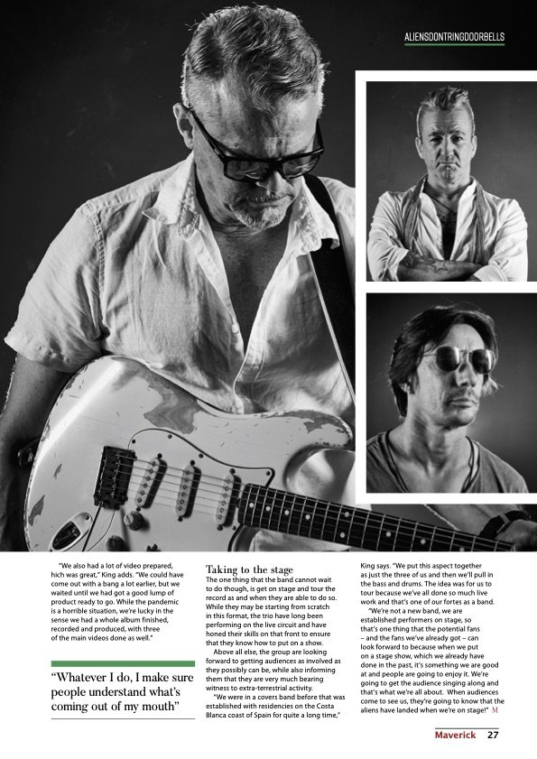 band photography published in international print magazine Maverick